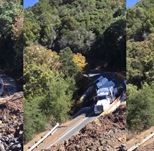 'You Ain't Gonna Make It!': US Trucker Ignores Sign, Tumbles Down Mountain