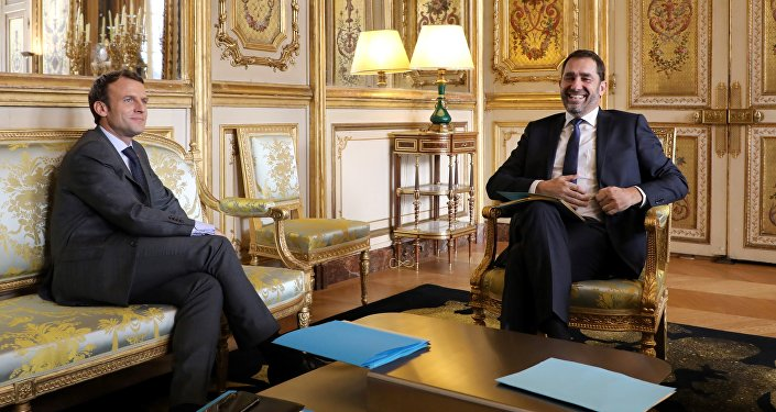 French president Emmanuel Macron (L) speaks with La Republique en Marche (Republic on the Move - LREM) centrist party new leader Christophe Castaner, at the Elysee palace on november 20, 2017 in Paris.