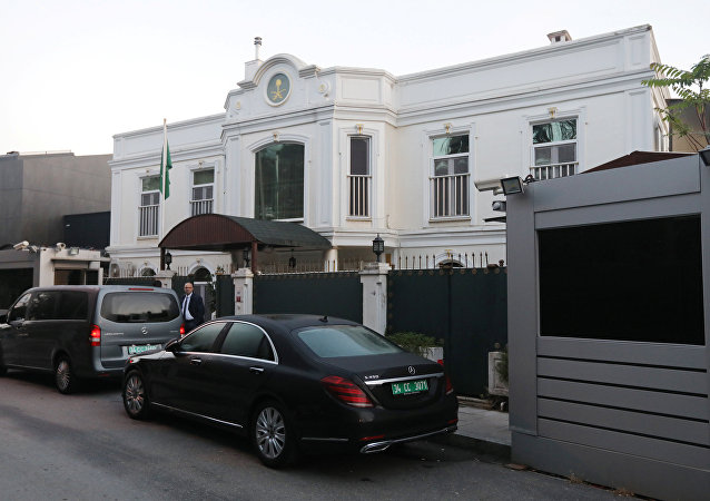 Residence of Saudi Arabia's Consul General Mohammad al-Otaibi is pictured in Istanbul