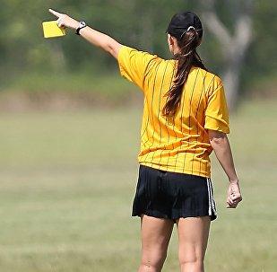 Female football referee