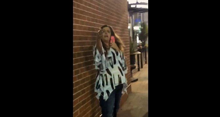 Woman caught on camera yelling racial slurs at strangers October 16, 2018, in Kansas City, Missouri.