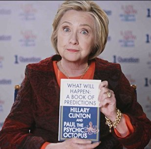 Hillary Clinton in Just One Question segment, The Late Show With Stephen Colbert