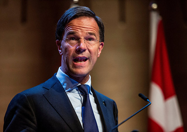 Dutch Prime Minister Mark Rutte speaks during a news conference