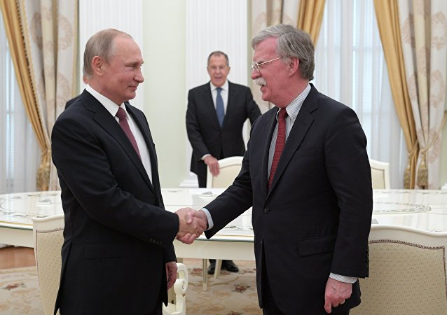 Vladimir Putin meeting with John Bolton. File photo.