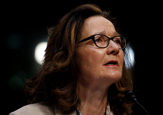 CIA Director nominee Gina Haspel testifies at her confirmation hearing before the Senate Intelligence Committee on Capitol Hill in Washington
