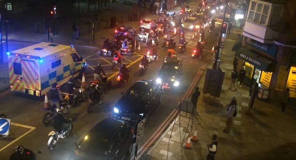 Mass motorcycle ride in London – Halloween 2015