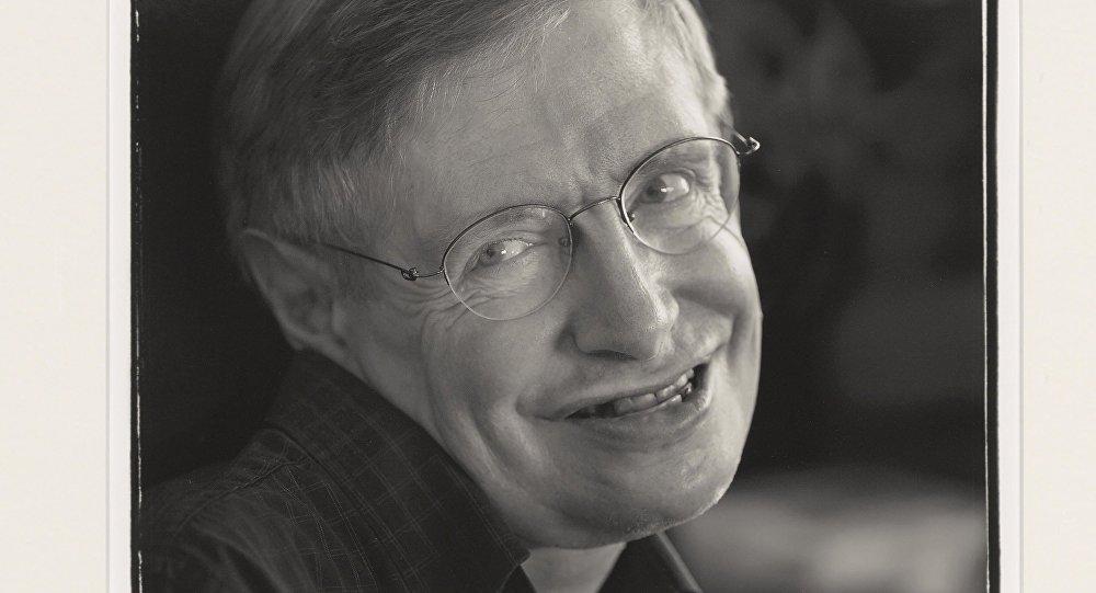 A touching portrait Stephen Hawking. 2005 Estimate: GBP 400 - GBP 600