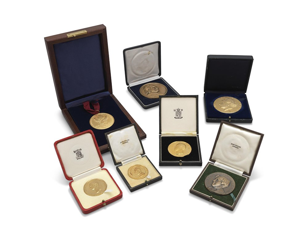 Hawking's medals and awards Stephen Hawking. 1975-1999 Estimate: GBP 10,000 - GBP 15,000; Includes The Albert Einstein Award for achievement in the natural sciences.