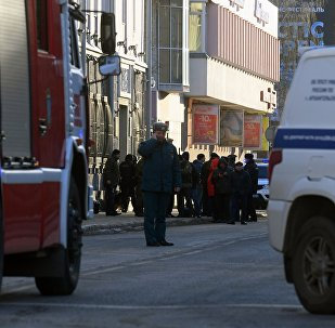 An explosion at FSB building in Arkhangelsk