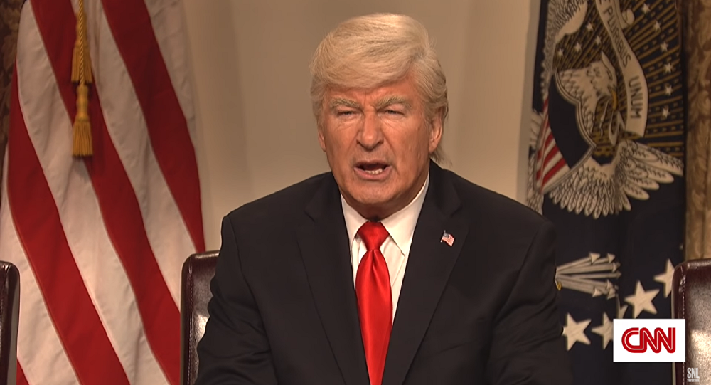 Actor Alec Baldwin plays US President Donald Trump on Saturday Night Live.
