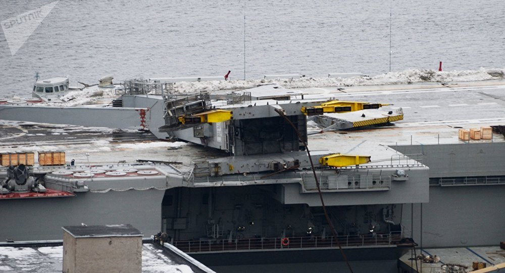 Fire on Russia's only aircraft carrier injures 11