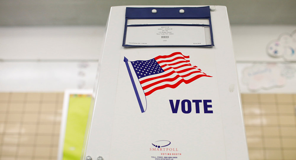 A voting booth