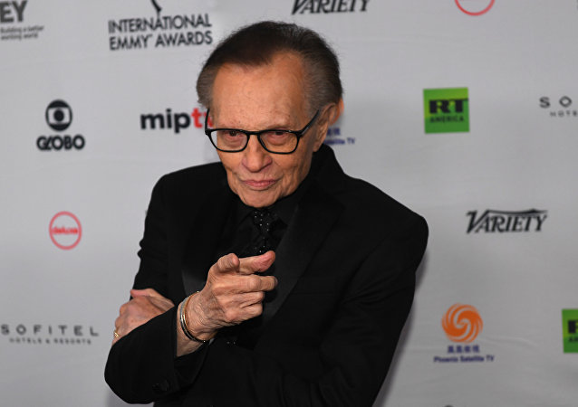 Larry King arrives for the 45th International Emmy awards gala in New York city on November 20, 2017