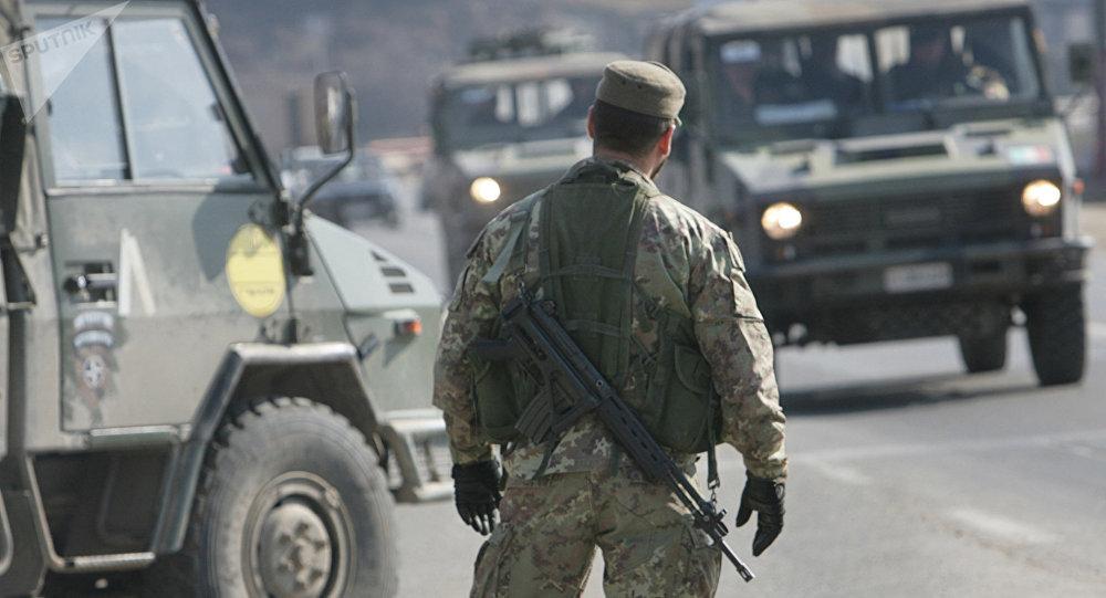 Checkpoint outside Pristina