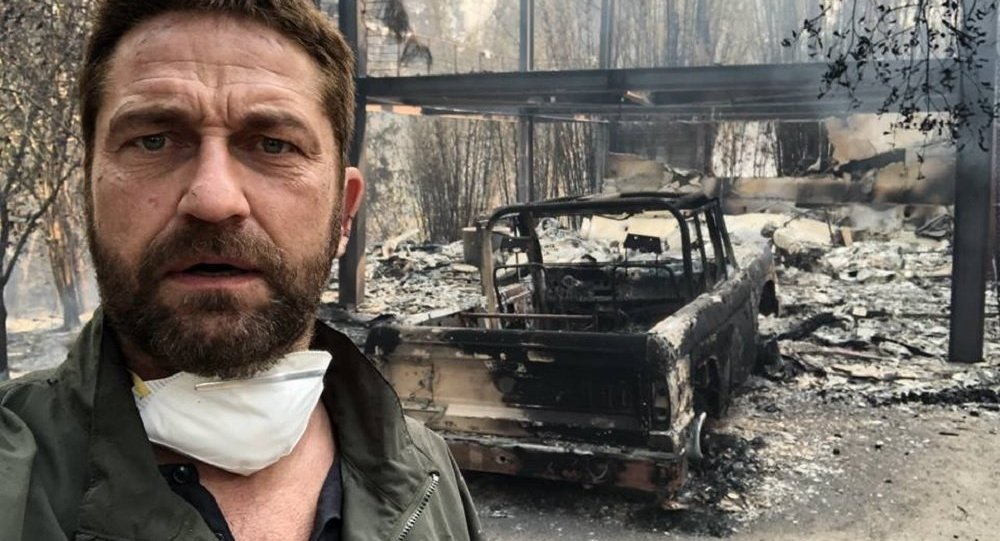Gerard Butler home destroyed due to raging wildfire in California