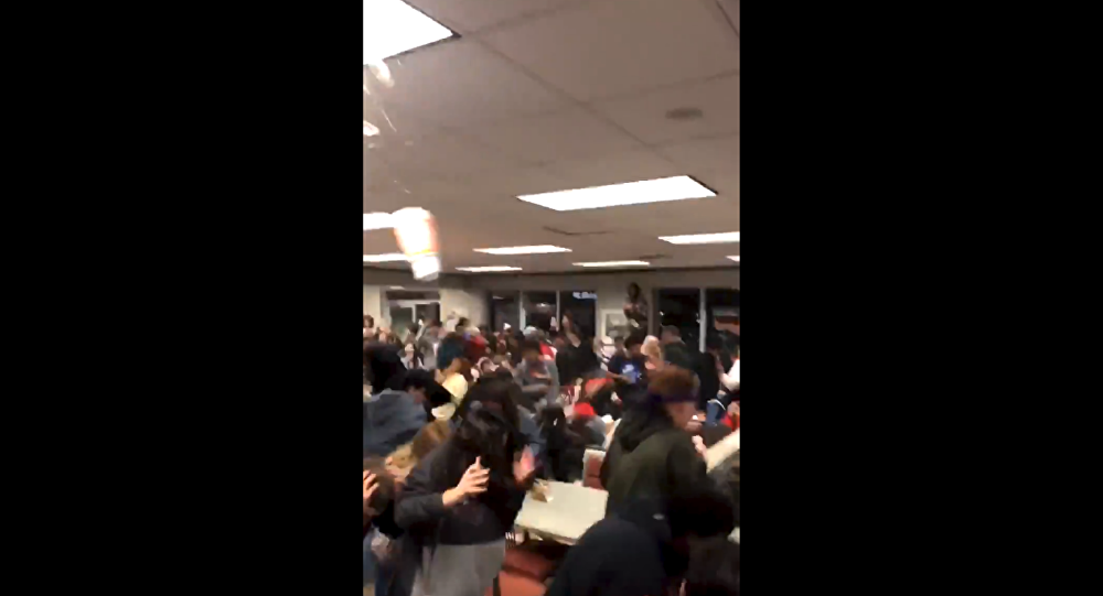 US high school students set off food fight following football game