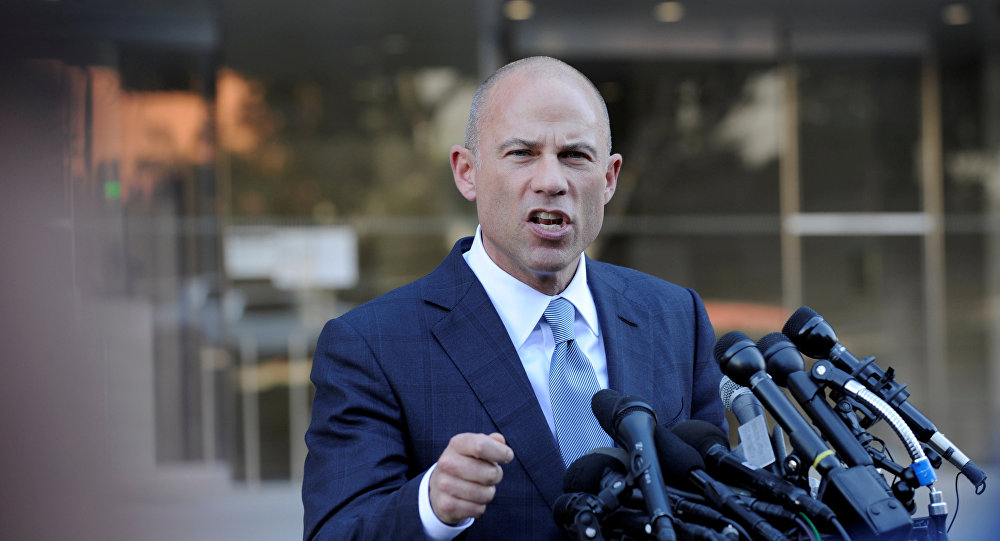 Michael Avenatti, lawyer for adult film actress Stephanie Clifford, also known as Stormy Daniels, speaks to the media outside the U.S. District Court for the Central District of California in Los Angeles, California, U.S. September 24, 2018.