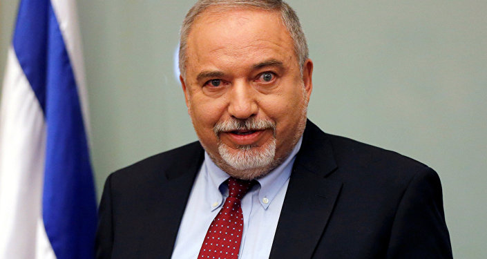 Israel's Defence Minister Avigdor Lieberman delivers a statement to the media following his party, Yisrael Beitenu, faction meeting at the Knesset, Israel's parliament, in Jerusalem November 14, 2018