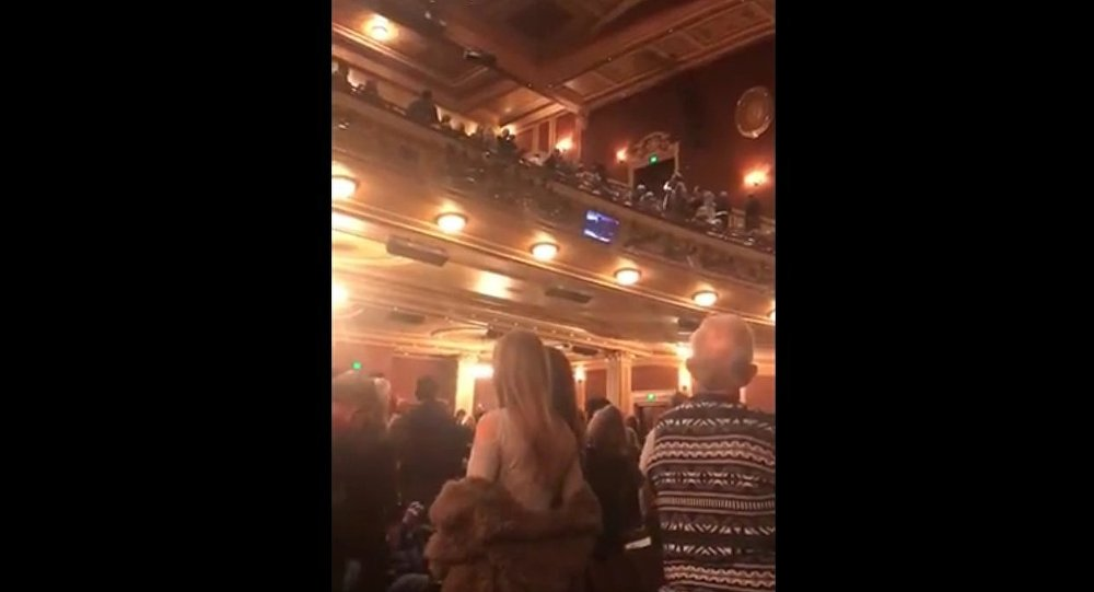 "A man stands at intermission of tonight's performance of Fiddler in Baltimore and yells, ""Heil Hitler,"" along with pro-Trump references"