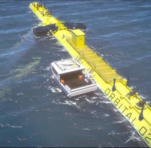Orbital O2 2MW floating tidal turbine