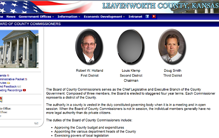 Leavenworth Board of County Commissioners has the portrait of Louis Klemp removed following his racist remarks.