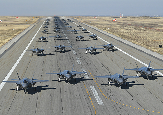 US Air Force conducts combat power exercise of F-35A Lightning IIs at Utah's Hill Air Force Base
