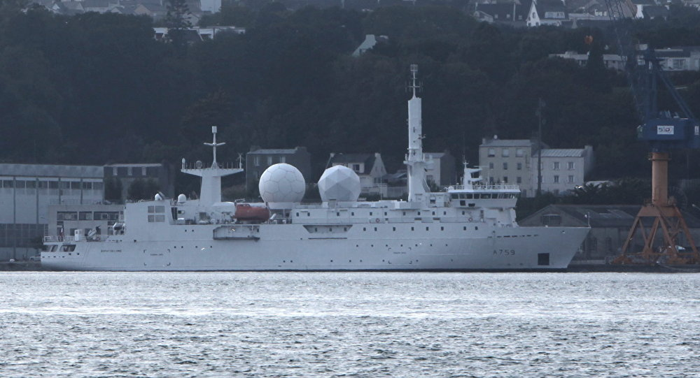 Dupuy-de-Lôme Electronic Intelligence Ship in the Port of Brest
