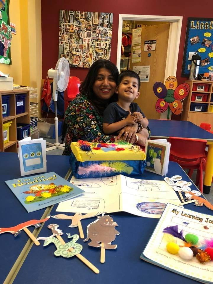 Alka Dass, pictured with her son Jai, has been campaigning against the closure of children's centres
