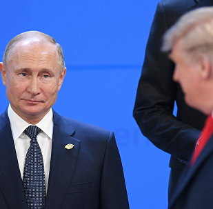 Putin and Trump at the G20 in Buenos Aires, Argentina.