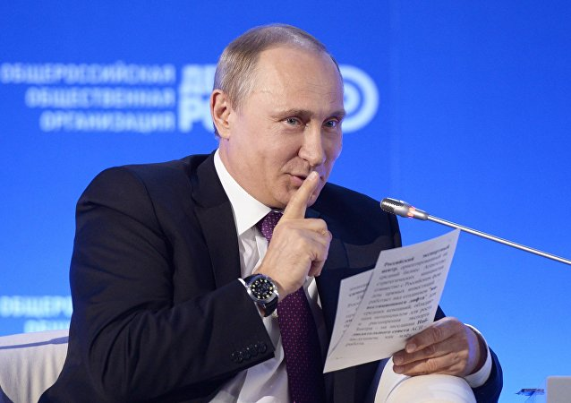 Russian President Vladimir Putin at a business forum. File photo.