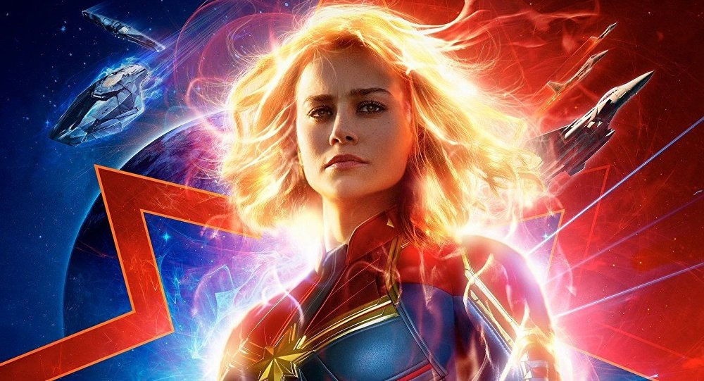 The New Poster for Captain Marvel Shines Bright!