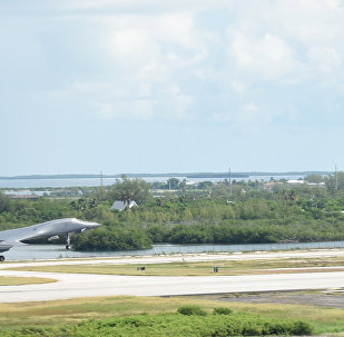 Bomber takes off from Naval Air Station Key West