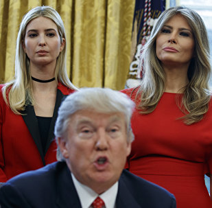 Ivanka, Melania and Donald Trump
