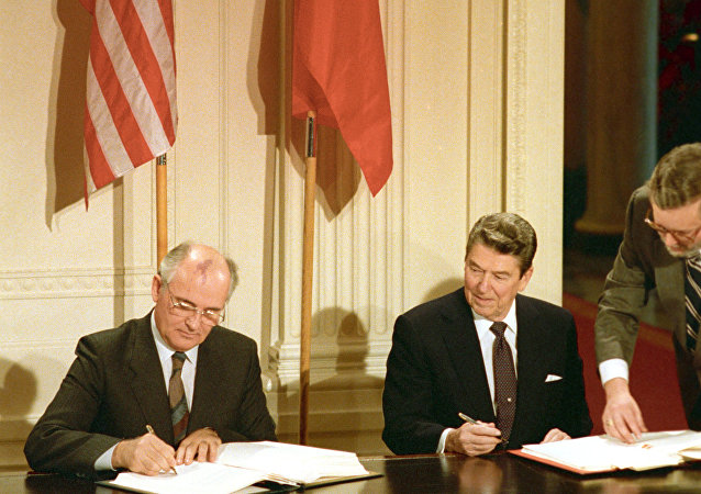 Washington has accused Russia of violating the Intermediate-Range Nuclear Forces Treaty (INF), which was signed by US and Russian leaders Ronald Reagan and Mikhail Gorbachev in 1987, where it was agreed that both parties would scrap all land-based, intermediate-ranged atomic weapons and prevent their proliferation in the future.