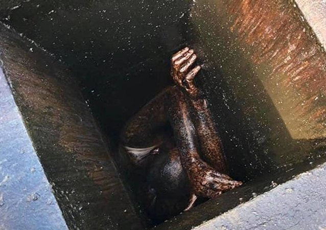 The man was trapped in the grease vent for two days