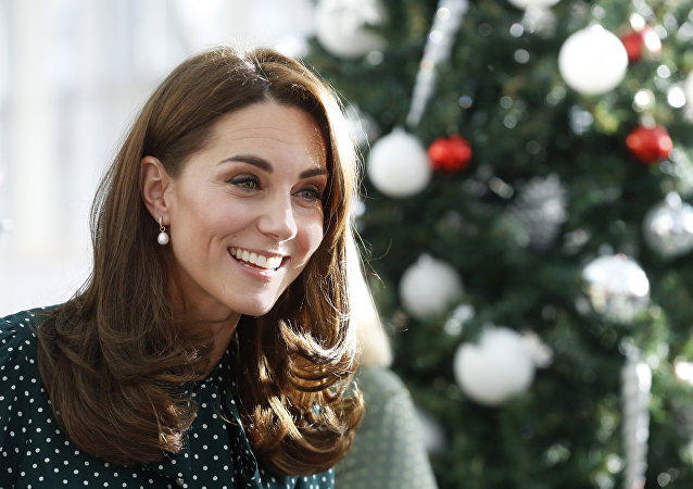 Britian's Catherine, Duchess of Cambridge during a visit with Prince William to Evelina London Children's Hospital in London, Tuesday Dec. 11, 2018. Evelina London, which is part of Guy's and St Thomas' NHS Foundation Trust, is preparing to mark its 150th anniversary in 2019.