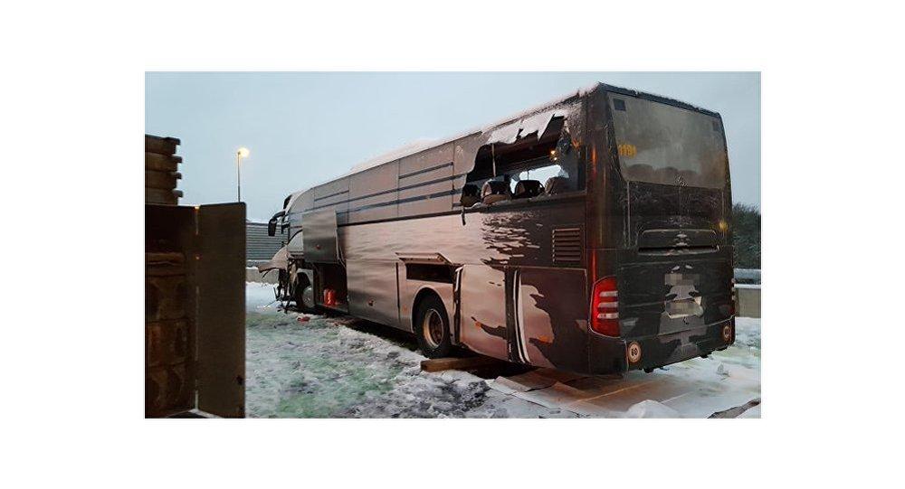 Tour Bus Crashes in Switzerland