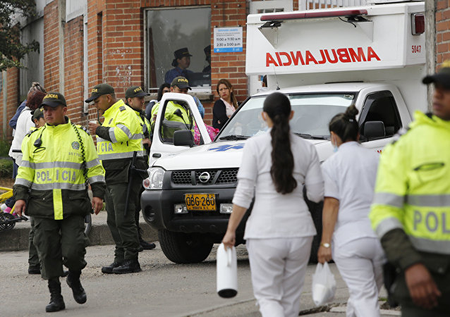 Police and ambulance , Colombia (File)