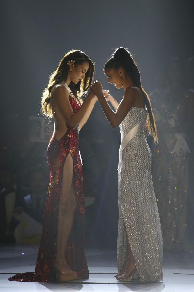 Miss Philippines and Miss South Africa During the Miss Universe 2018 Contest in Thailand