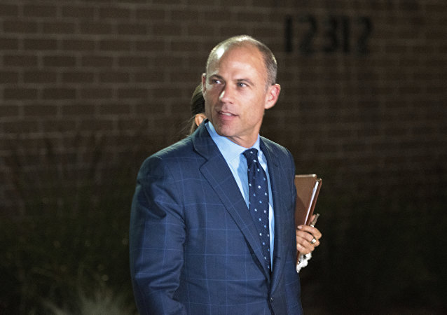 Michael Avenatti leaves the Los Angeles Police Department's Pacific Division after being released from police custody following his arrest on a felony domestic violence charge, Wednesday, Nov. 14, 2018, in Los Angeles.