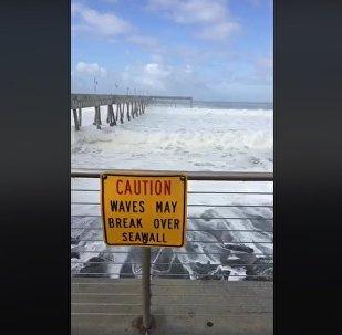 HUGE WAVES HITTING BAY AREA COASTLINE