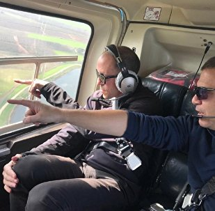 Chris Lehane, Airbnb's head of global policy and public affairs, was given a helicopter tour over Israel on Tuesday following the company's decision to remove apartment rental listings from the occupied West Bank.