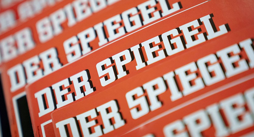 The Dec. 19, 2018 photo shows issues of German news magazine Spiegel arranged on a table in Berlin