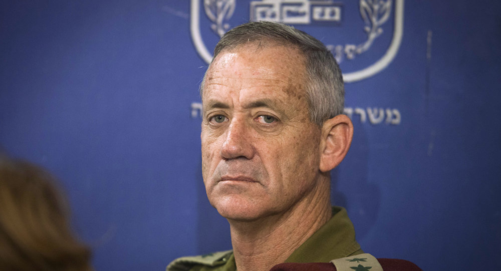 Chief of General Staff of the Israel Defense Forces Lt. Gen. Benny Gantz attends the cabinet meeting at the defense ministry in Tel Aviv, Israel, Thursday, July 31, 2014.
