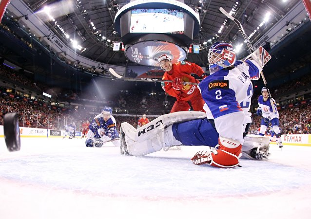 Russia takes on Slovakia at U20 World Junior Championship in Vancouver.