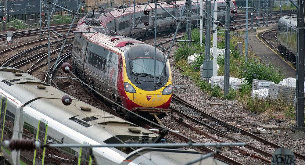 A Virgin train arrives at Euston station in London, on August 15, 2012