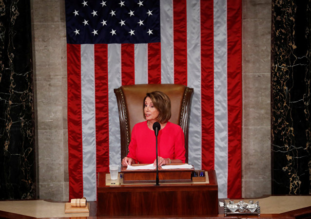 House Speaker-designate Nancy Pelosi (D-CA) delivers a speech after being elected speaker as the U.S. House of Representatives