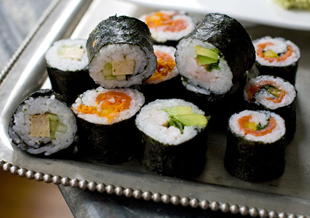 This Nov. 14, 2011 photo shows sushi rolls for a DIY sushi rolling party in Concord, N.H.