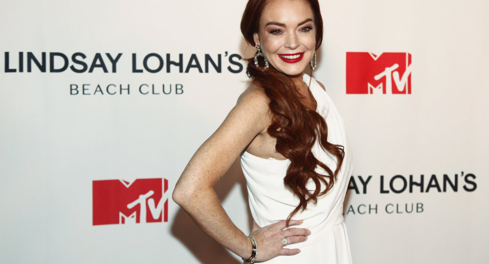 Lindsay Lohan attends MTV's Lindsay Lohan's Beach Club series premiere party at Magic Hour Rooftop at The Moxy Times Square on Monday Jan. 7 2019 in New York