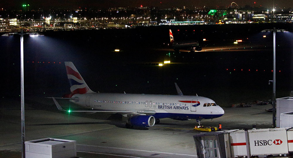 A British Airways aircraft sits on the tarmac at Heathrow Airport in London, Britain January 8, 2019